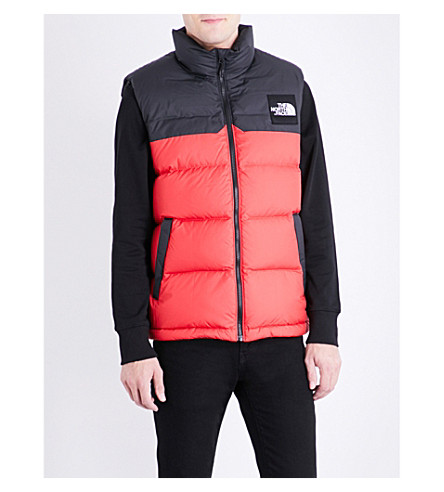 THE NORTH FACE 1992 Nuptse quilted shell gilet (Tnf+red