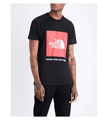 THE NORTH FACE Logo-print cotton-jersey T-shirt (Tnf+black