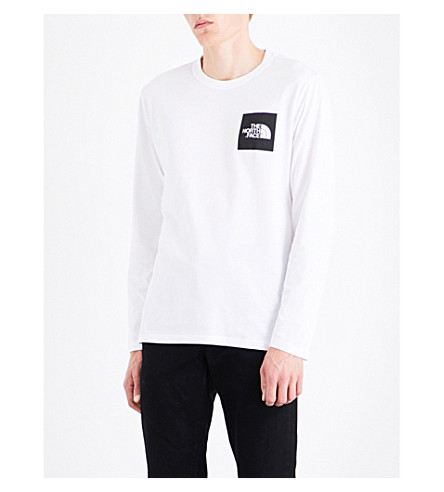 THE NORTH FACE Long-Sleeve Cotton T-Shirt (Tnf+white