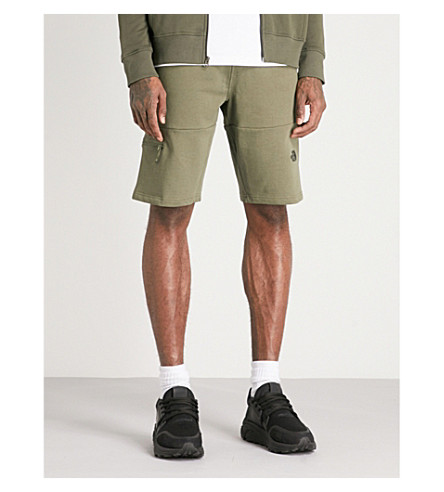 THE NORTH FACE Z-pocket light cotton-jersey shorts (Taupe++grn