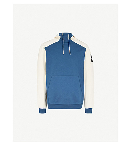 THE NORTH FACE Colour-blocked cotton-jersey hoody (Teal/white