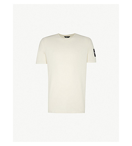 THE NORTH FACE Logo-print cotton-jersey T-shirt (Wht/grey+blk