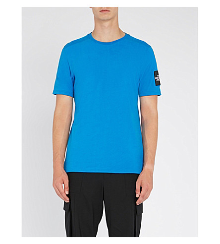 THE NORTH FACE Fine 2 cotton-jersey T-shirt (Bomber+blue