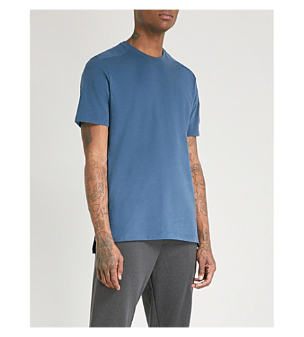 THE NORTH FACE Logo-print cotton-jersey T-shirt (Blue+wing+teal
