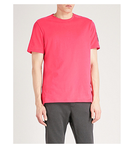 THE NORTH FACE Fine 2 cotton-jersey T-shirt (Raspberry+red
