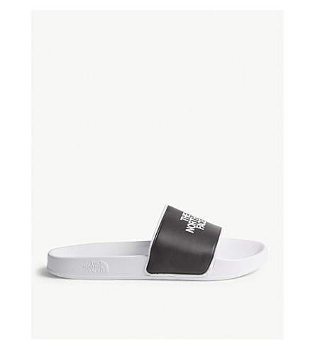 THE NORTH FACE Base Camp II logo sliders (White/