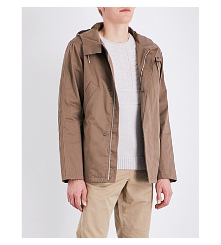 A.P.C. Cliff cotton-blend parka jacket (Taupe
