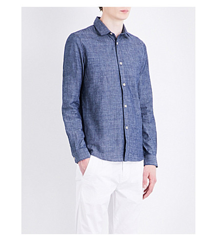A.P.C. Hector slim-fit cotton shirt (Indigo