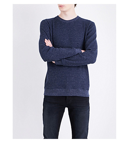 A.P.C. Jeremie cotton-blend jumper (Marine