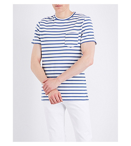 A.P.C. Michael striped cotton-jersey T-shirt (Bleu