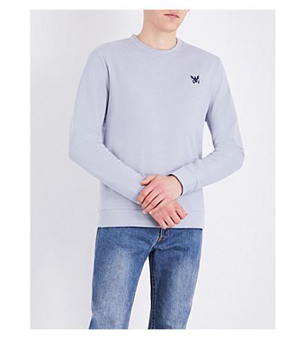 A.P.C. Aigle cotton-jersey sweatshirt (Bleu+gris