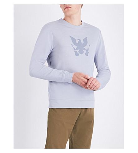 A.P.C. Grand Aigle cotton-jersey sweatshirt (Bleu+gris