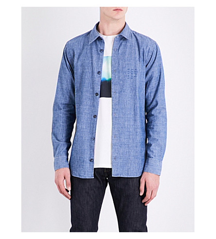 A.P.C. Regular-fit cotton-chambray shirt (Indigo+delave