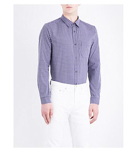 A.P.C. Trek checked regular-fit cotton shirt (Dark+navy