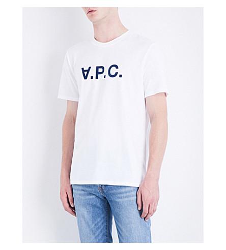 A.P.C. Logo-detail cotton-jersey T-shirt (Blanc