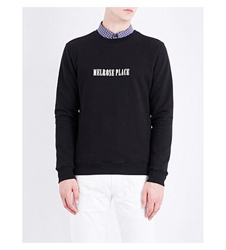 A.P.C. Melrose place cotton-jersey sweatshirt (Noir