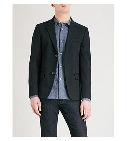 A.P.C. Burbank slim-fit cotton blazer (Dark+navy