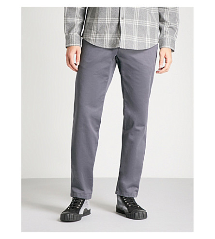 A.P.C. Pat slim-fit straight cotton chinos (Gris+tahiti