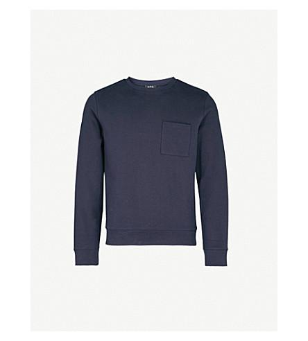 A.P.C. Yogi cotton-jersey jumper (Marine