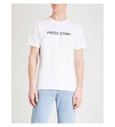 A.P.C. 按启动平纹针织棉 T 恤 (勃朗峰
