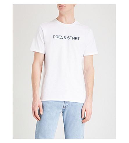 A.P.C. Press Start cotton-jersey T-shirt (Blanc