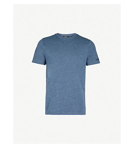 A.P.C. FTW 棉混纺 T 恤 (蓝、acier +