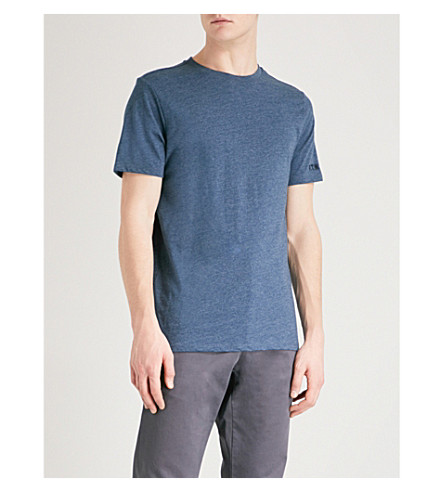 A.P.C. FTW cotton-blend T-shirt (Bleu+acier+chine