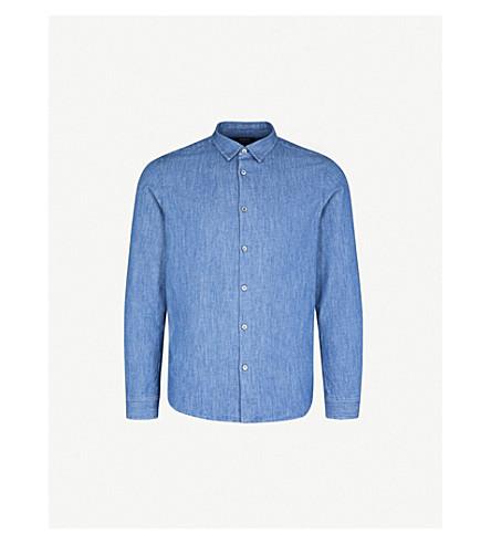 A.P.C. Regular-fit denim shirt (Indigo+delave