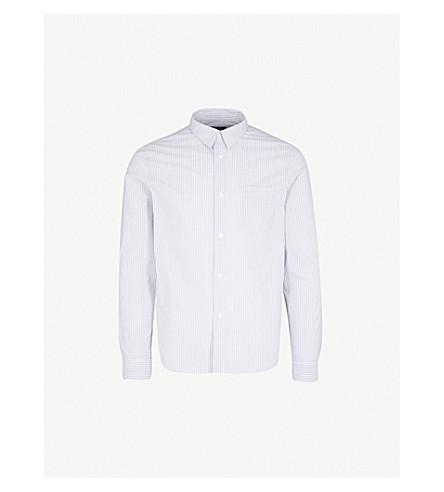 A.P.C. Striped regular-fit cotton shirt (Bleu