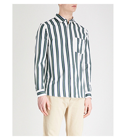 A.P.C. Alexis regular-fit cotton shirt (Blanc+casse