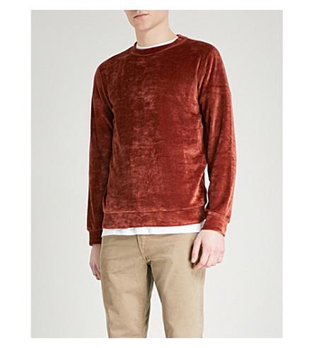 A.P.C. Jérémie velvet sweatshirt (Brique