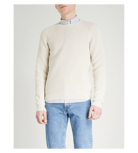 A.P.C. Ribbed knitted jumper (Mastic