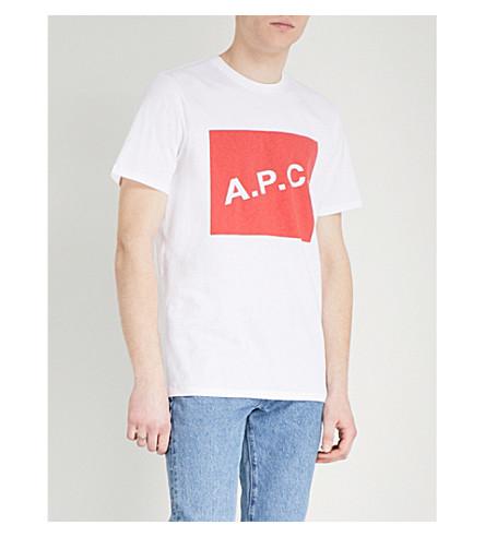 A.P.C. Kraft cotton-jersey T-shirt (Rouge