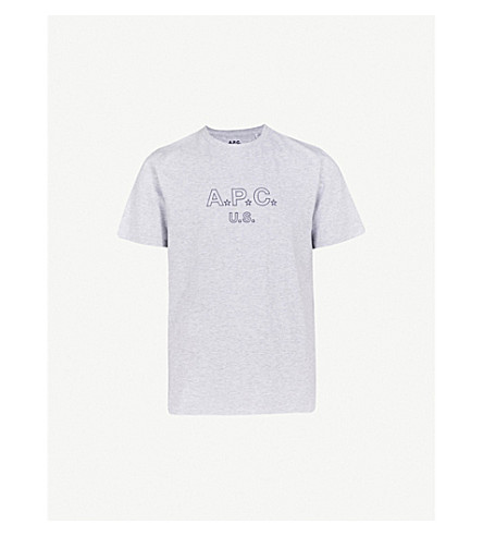A.P.C. U.S. Star cotton-blend T-shirt (Gris+chine