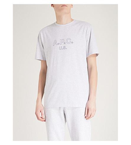 A.P.C. U.S. Star cotton-blend T-shirt (Gris+chine