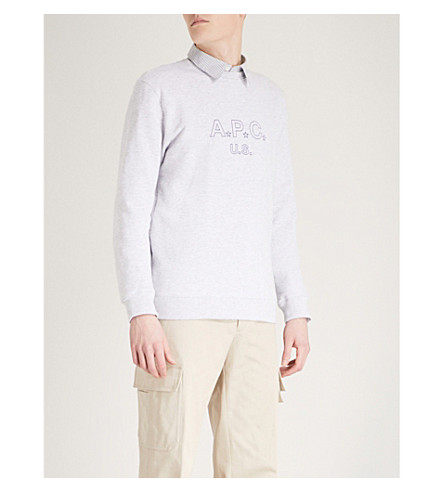 A.P.C. U.S. Star cotton-blend sweatshirt (Gris+chine
