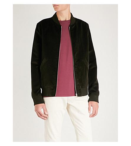 A.P.C. Barett cotton and linen-blend bomber jacket Marron fonce Shop Offer Online EKrvMr