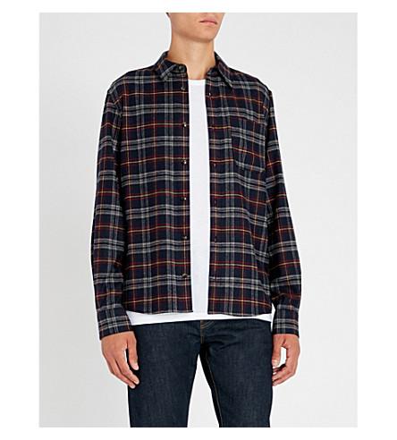 A.P.C. Checked regular-fit wool-blend shirt