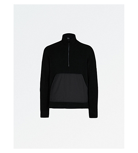 A.P.C. Summit contrasting wool-blend bouclé jumper (Noir