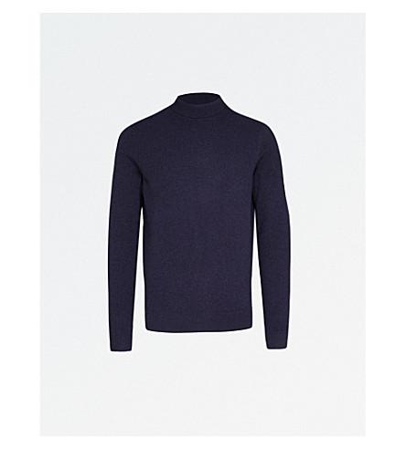A.P.C. Ryan turtleneck wool and cashmere-blend jumper (Marine