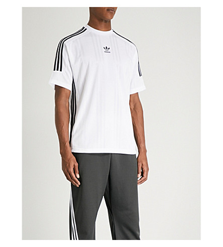 ADIDAS Logo sports-jersey T-shirt (White/black