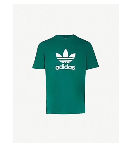 ADIDAS Trefoil cotton-jersey T-shirt (Collegiate+green