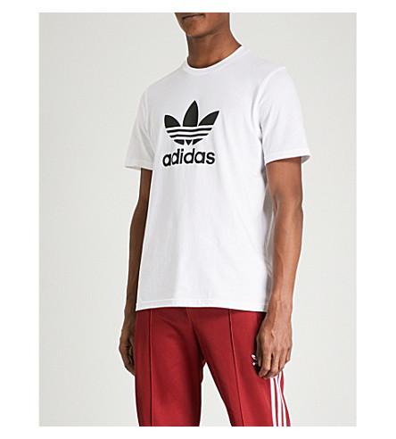 ADIDAS Trefoil cotton-jersey T-shirt (White