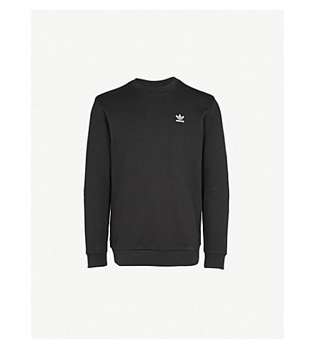 ADIDAS Logo cotton-jersey sweatshirt (Black