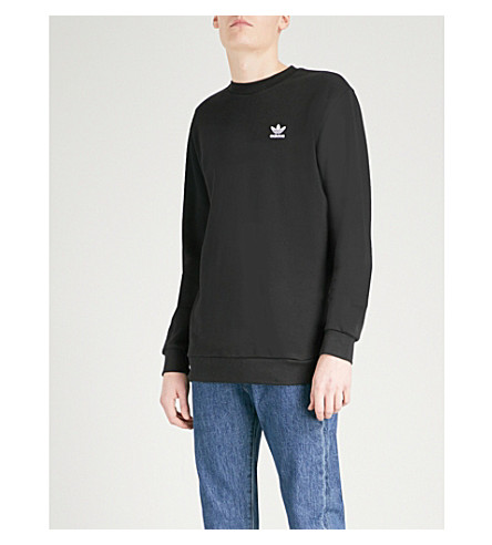 ADIDAS Logo cotton-jersey sweatshirt (Black