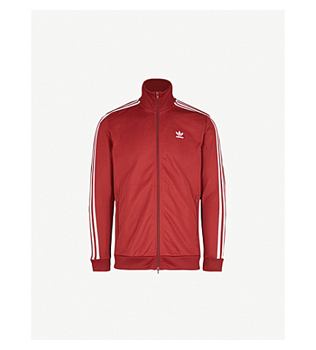 ADIDAS Beckenbauer cotton-blend track jacket (Rust+red+f15-st