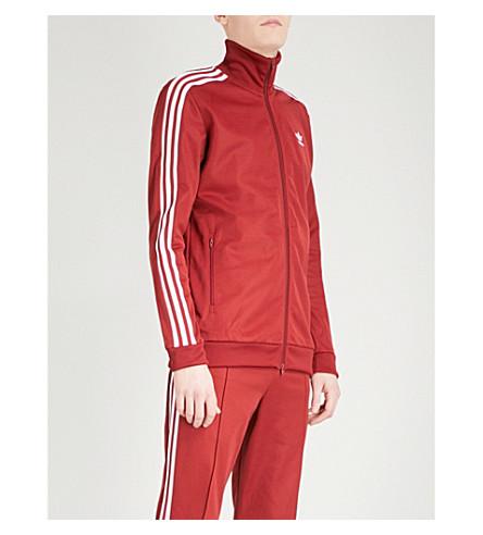 ADIDAS Beckenbauer cotton-blend track jacket (Rust+red+f15-st
