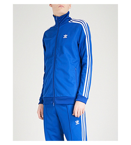 ADIDAS Beckenbauer cotton-blend track jacket (Collegiate+royal