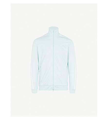ADIDAS Beckenbauer cotton-blend track jacket (Ash+green+s18