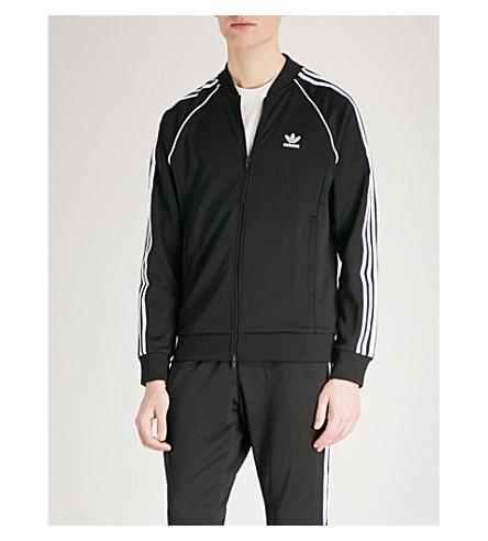 ADIDAS SST 3-stripe jersey track jacket (Black